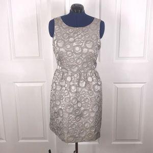 kensie XL champagne brocade retro dress